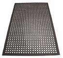 Winco 3 Ft X 5 Ft Anti Fatigue Black Rubber Floor Mat 1 Per Pack - 1 Per Case