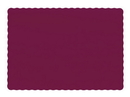 Hoffmaster 9.5 Inch X 13.5 Inch Burgundy Paper Placemat 1000 Per Pack - 1 Per Case