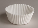 Hoffmaster 4.5 Inch Fluted Paper White Baking Bowl 500 Per Pack - 20 Per Case