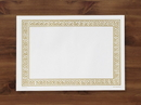 Hoffmaster 10 Inch X 14 Inch Gold Greek Key Paper Placemat 1000 Per Pack - 1 Per Case