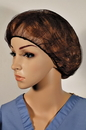 Cellucap 24 Inch Brown Polyester Hairnet 100 Per Pack - 10 Per Case