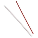 Dixie 12 Inch Giant Individually Wrapped Red Straw 500 Per Pack - 4 Per Case
