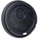 Dixie D9550B Dixie Lid Dome Fits 20-24 oz. Paper Hot Cups 1000 Count Black
