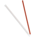 Dixie 10.25 Inch Giant Individually Wrapped Red Straw 300 Per Pack 4 Per Case