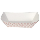 Dixie Kant Leek 2 Lb Polycoated Red Plaid Food Tray 250 Per Pack - 4 Per Case