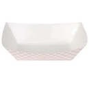 Dixie Kant Leek 1 Lb Polycoated Red Plaid Food Tray 250 Per Pack - 4 Per Case