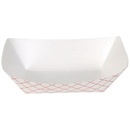Dixie Kant Leek .5 Pound Red Plaid Food Tray 250 Per Pack - 4 Per Case