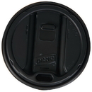 Dixie TP9542B Dixie 12-16 oz. Smart Top Reclosable Dome Lid For Hot Cups 1000 Count Black