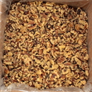 Commodity Light Amber Combo Halves & Pieces Walnuts 5 Pounds - 1 Per Case