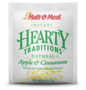 Malt O Meal Hearty Traditons Instand Apple & Cinnamon Oatmeal 1.23 Ounce Per Pack - 200 Per Case