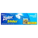 Ziploc Slider Quart Freezer Bag 15 Per Pack - 12 Per Case