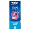 Ziploc Value Pack Quart Freezer Bag 38 Count Per Box - 9 Boxes Per Case