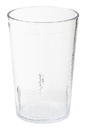 G.E.T. Enterprises 8 Ounce 4 Inch Tall Clear Textured Tumbler 6 Dozen Per Pack - 1 Per Case Dozen