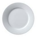 Vertex Argyle Rolled Edge White 10.25 Inch Plate 1 Dozen Per Pack - 1 Per Case