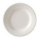 Vertex China VRE-21 Vista Collection American White Plate Rolled Edge 12 Inch 1-1 Dozen