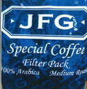 Jfg Round Special Blend Filterpack Coffee 2 Ounce Packet - 70 Per Case