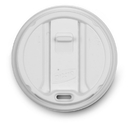Dixie TP9542 Dixie(R) Products Dixie(R) White Smart Top(R) Lid - Dome Fits 10-16 oz Perfectouch(R) & 12-20 oz Paper Hot Cups