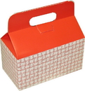 Dixie Small Auto-Bottom Handled Red Plaid Take Out Carton 125 Per Pack - 1 Per Case