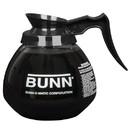 Bunn Black Handle 12 Cup Glass Coffee Decanter 24 Per Pack - 1 Per Case