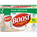 Boost High Protein Vanilla Ready To Drink Adult Nutritional Beverage 8 Ounce Bottles - 12 Per Pack - 2 Packs Per Case