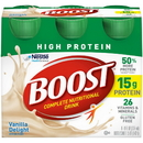 Boost High Protein Vanilla Nutritional Beverage 8 Fluid Ounces - 4 Per Pack - 4 Packs Per Case