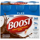 Boost Plus Ready To Drink Chocolate Nutritional Beverage 8 Fluid Ounces - 4 Per Pack - 4 Packs Per Case