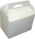 Dixie 9 Inch X 6 Inch X 6.5 Inch 10 Pound Conventional Barn White Handled Carryout Carton 200 Per Pack - 1 Per Case