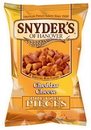 Snyder'S Of Hanover Cheddar Cheese Pretzel Pieces 8 Ounce Bag - 6 Per Case