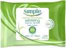Simple Facial Wipes Kind To Skin Exfoliating 6 25 Pc