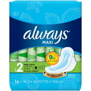 Always 8216 Always Maxi Long Super With Wings 12-16 Count
