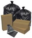 Pitt Plastics EC434715K 43X47 1.5 Mil 56 Glutton Gallons Black Star Perf Roll 100(10/10 Count - 56 Gallon Bag) No Print