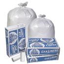 Pitt Plastics MT403XW 33X39 .95 Mil 33 Gallons White Star Perf Roll 150(10/15 Count - 33 Gallon Bag) No Print