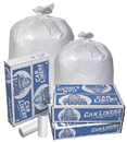 Pitt Plastics MT603XW 38X58 .95 Mil 60 Gallons White Star Perf Roll 100(10/10 Count - 60 Gallon Bag) No Print