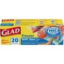 Glad 57035 Bags Freezer Zipper Quart 12-20 Count