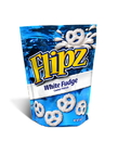 Flipz 12/5 Oz. White Fudge Covered Pretzels In A Stand Up Pouch
