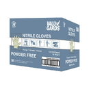 Valugards White Nitrile Powder Free Extra Large Glove 100 Per Box - 10 Boxes Per Case