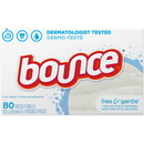 Bounce Dryer Sheet Free & Sensitive 9-80 Count