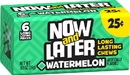 Now & Later Watermelon Chews 6 Piece Pack 24 Ct .93 Ounce - 12 Per Case