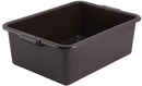 Winco PL-7B Dish Box 7 Inch Brown 1-6 Count