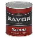 Savor Imports Diced Pears In Light Syrup #10 Can - 6 Per Case