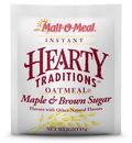 Malt O Meal Hearty Traditons Instand Maple Brown Sugar Oatmeal 1.51 Ounce Per Pack - 200 Per Case