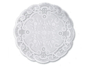 Doily Paper White 12 Round French Lace