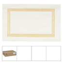 Lapaco 9Inch By 13.5Inch Econo Greek Key Straight Edge Gold Placemat 1000 Each - 1 Per Case