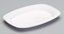 Genpak Harvest Fiber 6.5 Inch X 9 Inch Compostable Medium Oval Platter 125 Per Pack - 4 Per Case