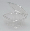 Genpak 5.38 Inch X 4.5 Inch X 2.63 Inch Clear Hinged Deli Container 100 Per Pack - 2 Per Case