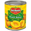 Del Monte In Heavy Syrup Yellow Cling Half Peach 29 Ounce Can - 6 Per Case
