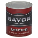 Savor Imports Peach Slices In Juice #10 Can - 6 Per Case