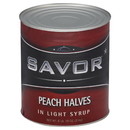 Savor Imports Peach Halves In Light Syrup #10 Can - 6 Per Case