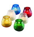 Sterno Candle Lamp Euro Venetians Red Glass 12 Per Pack - 1 Per Case