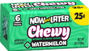 Now & Later Chewy Watermelon 6 Piece Pack 24 Ct .93 Ounce - 12 Per Case